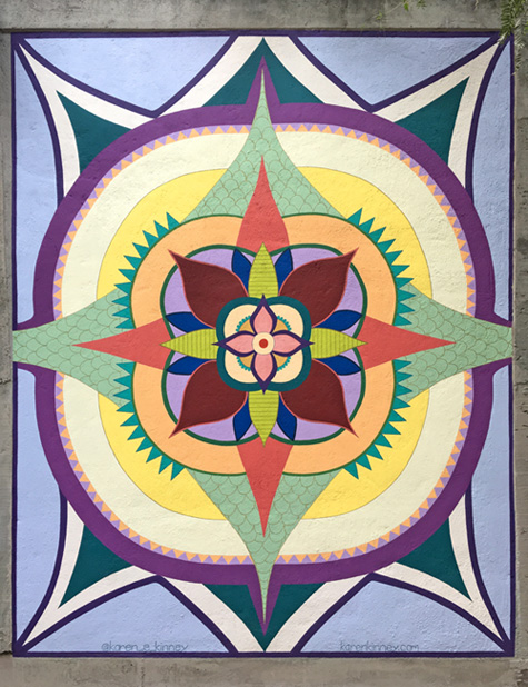 regal bloom mural front