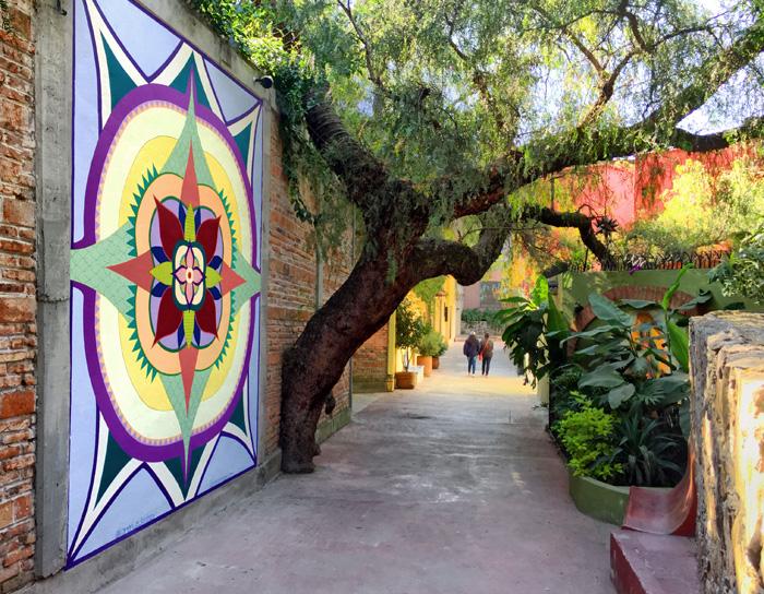 regal bloom mural walkway